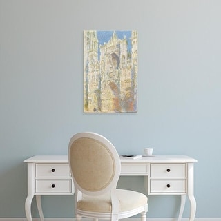 Easy Art Prints National Gallery of Art's 'Rouen Cathedral' Premium Canvas Art