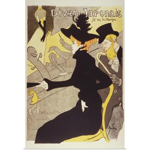 """""""Lithograph, Divan Japonais, By Henri de Toulouse-Lautrec"""" Poster Print"""