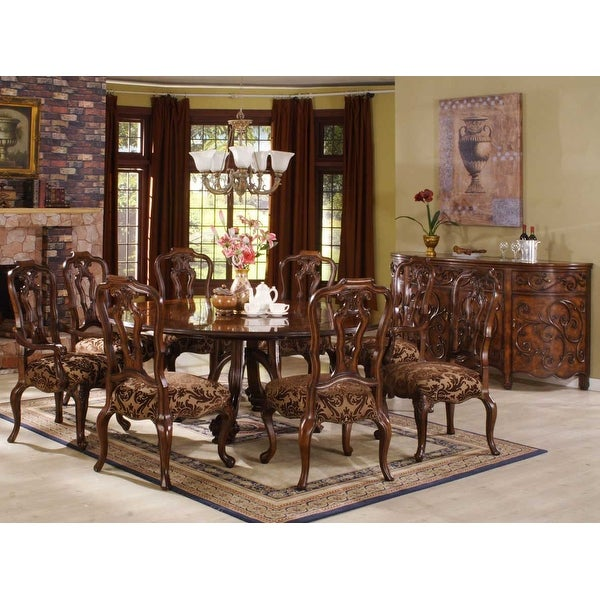 Shop Palladio 5680 Round Dining Table With 8 Chairs Free Shipping