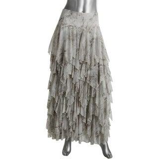 Free People Womens Tiered Printed Maxi Skirt - 8