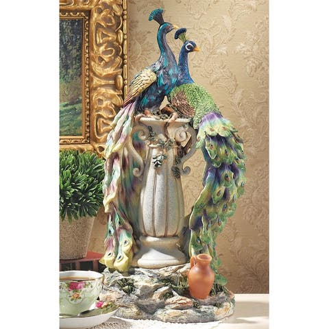 Design Toscano Peacocks in Paradise Statue