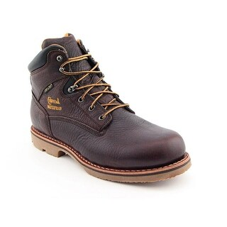 """Chippewa M 6"""" Waterproof Insulated Men Round Toe Leather Brown Work Boot"""