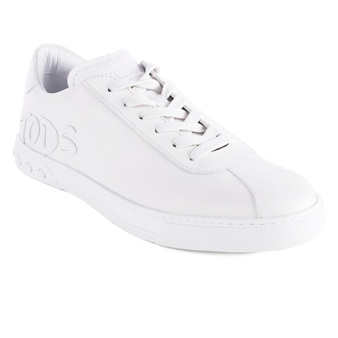 Tod's Men's Leather Low Top Sneaker Shoes White