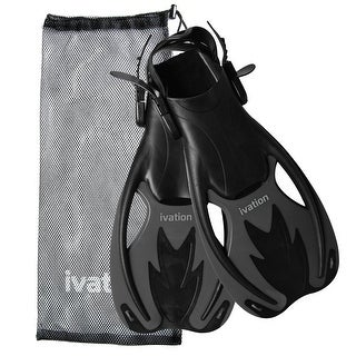 Ivation Kids Adjustable Speed/Swim Fins - for Diving,Snorkeling, Swimming & Water Sports (Large)