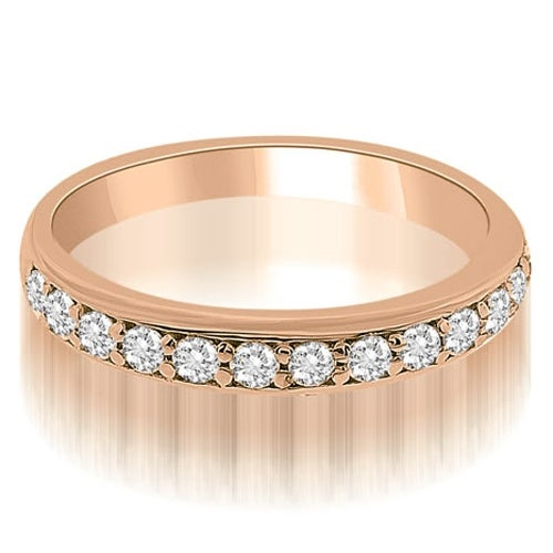 0.35 cttw. 14K Rose Gold Classic Round Cut Diamond Wedding Ring