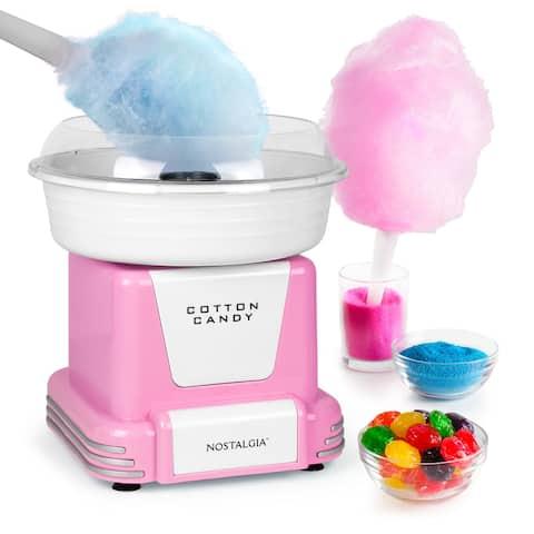 Nostalgia PCM805PNK Retro Hard & Sugar-Free Candy Cotton Candy Maker