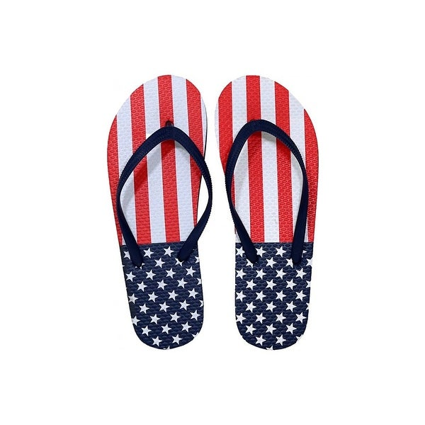4bb98e544a0e Shop SLR Brands Men's American Flag Flip Flops Rubber Thong USA Flip Flop  Shower S... - 8 - Free Shipping On Orders Over $45 - Overstock - 22254161