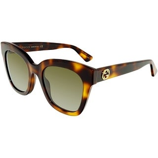Gucci Polarized GG0029S-002-50 Tortoiseshell Butterfly Sunglasses