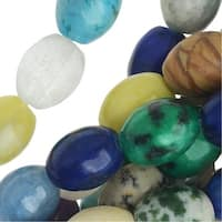 Gemstone Bead Lot Mix 8mm Barrel Beads /15.5 Inch Strand