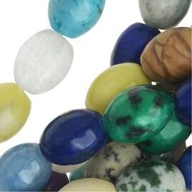 Gemstone Bead Lot Mix 8mm Barrel Beads /15.5 Inch Strand