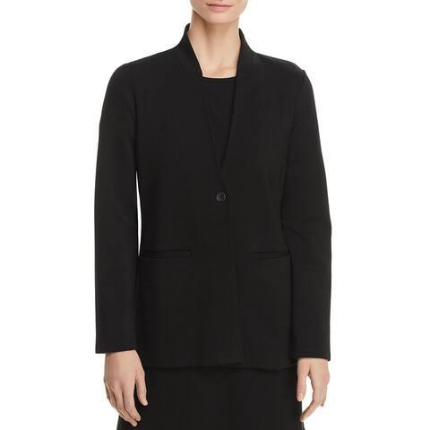 Eileen Fisher Womens One-Button Blazer Tencel Office