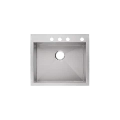 "Mirabelle MIRDM2522Z4 Sitka 25"" Drop In or Undermount Single Basin Kitchen Sink with Sound Dampening -"
