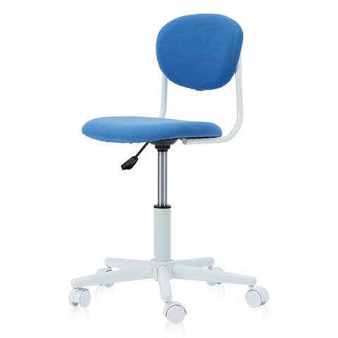 Furniture of America Liam Celtic Blue Youth Desk Chair