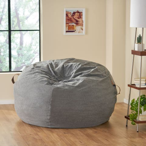 Avera Indoor Bean Bag with Vinyl Straps by Christopher Knight Home
