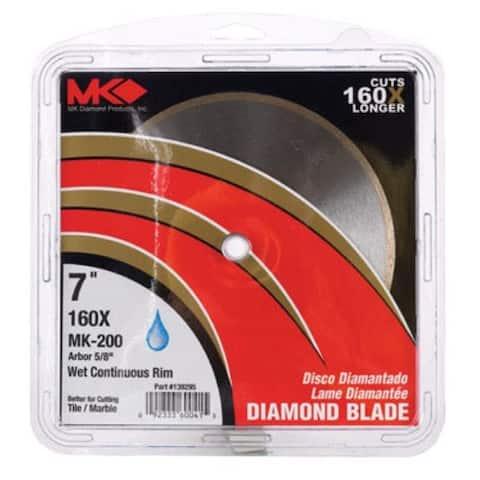 """MK Diamond 167008 Continuous Rim Diamond Blade, 7"""""""