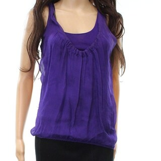 Armani Exchange NEW Purple Women's Size XS Chain Detailed Silk Blouse