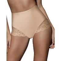 Bali Brief with Lace Firm Control 2-Pack - Size - 2XL - Color - 2 Beige