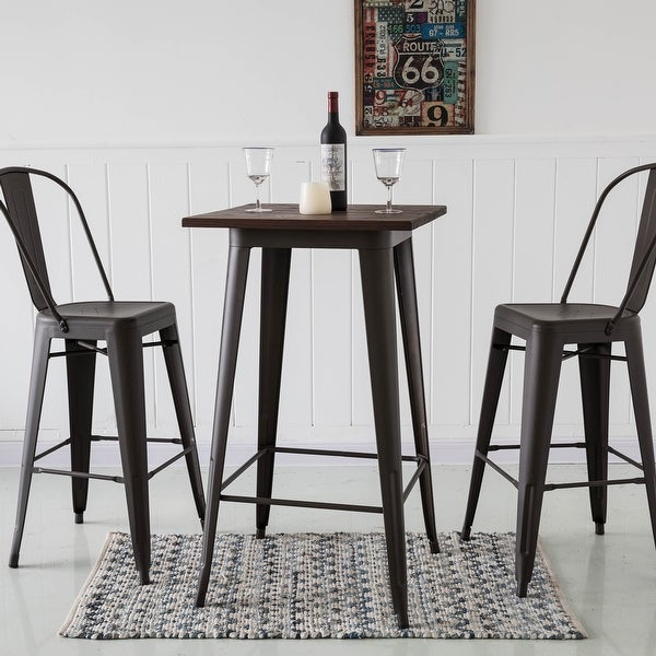 "Glitzhome 47""H Set of Two Farmhouse Industrial Steel Bar Stool. Opens flyout."