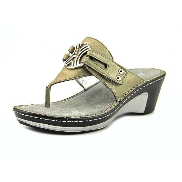 d739ce4892b Shop Alegria Lola Women Open Toe Leather Silver Wedge Sandal - Free ...