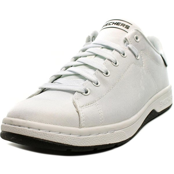Skechers Alpha Lite Men Round Toe Canvas White Sneakers