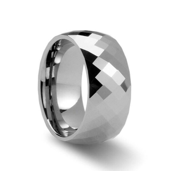 THORSTEN - MILLENNIUM 288 Diamond Faceted Tungsten Band - 10mm