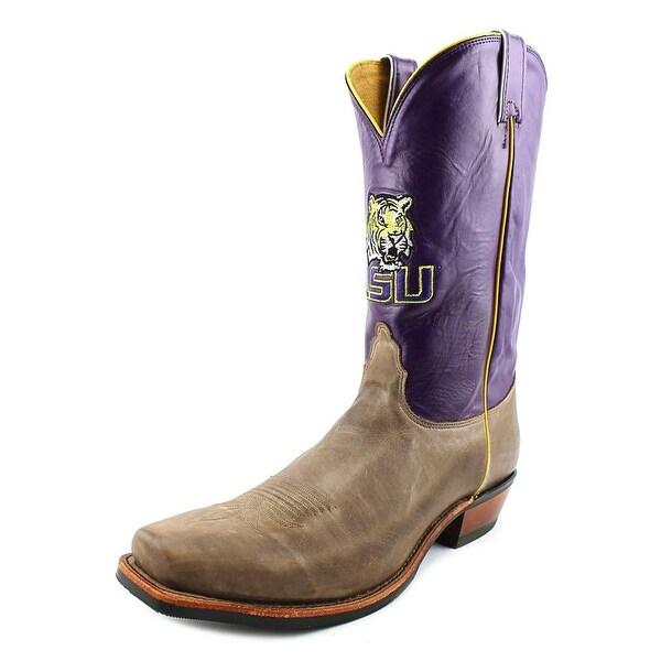 Nocona LSU Vintage Cow Men 2E Square Toe Leather Western Boot