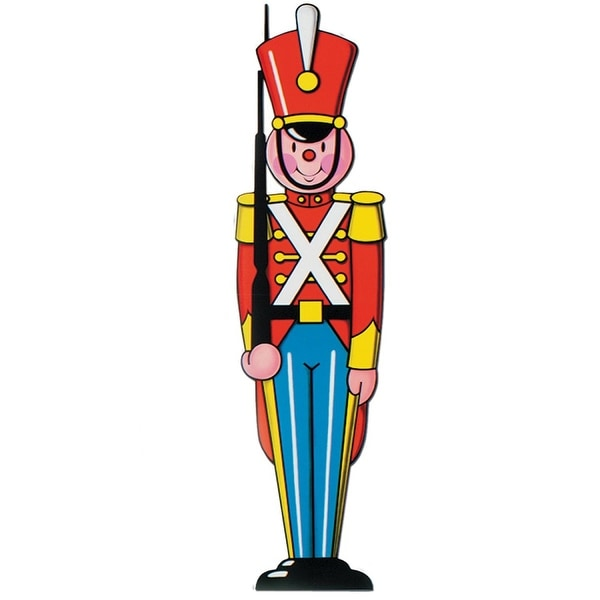 Pack of 24 Double Sided Toy Soldier Cutout Christmas Decorations 3' - RED