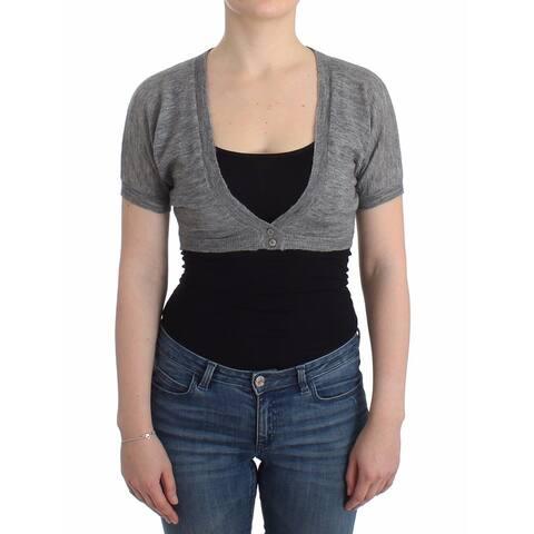 Ermanno Scervino Lingerie Knit Gray Bolero Sweater Women's Cardigan