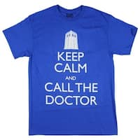 Doctor Who Keep Calm and Call the Doctor Mens T-Shirt