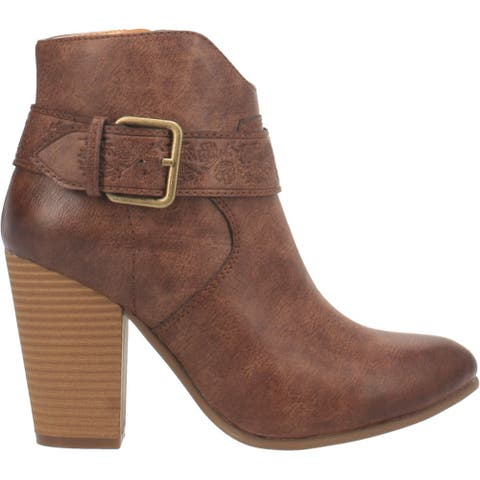 Code West Swerve Round Toe Womens Western Cowboy Boots Ankle High