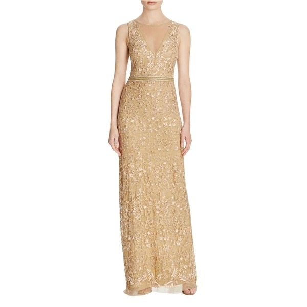 Nicole Miller Womens Evening Dress Embroidered Sleeveless