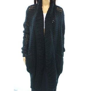 J&J NEW Black Open Knit Women's Size XS Shawl Collar Cardigan Sweater