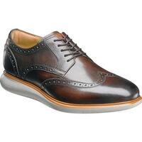 Florsheim Men's Fuel Wingtip Oxford Brown Leather/Gray Sole
