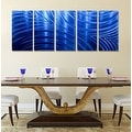 Statements2000 Blue Abstract Modern Metal Wall Art Panels by Jon Allen - Blue Synchronicity - Thumbnail 7