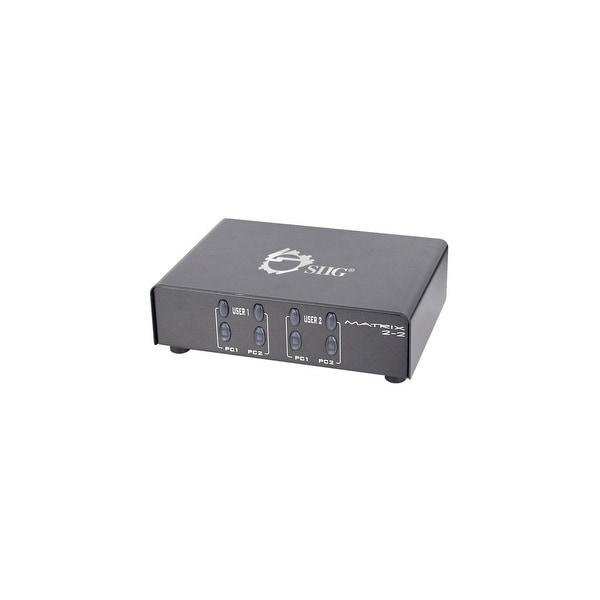 SIIG CE-VG0K11-S1 SIIG 2x2 VGA & Audio Matrix - 2 x HD-15 VGA In, 2 x HD-15 VGA Out, 2 x Mini-phone Stereo Audio Out - 1920 x
