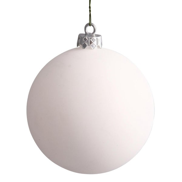 "Matte White UV Resistant Commercial Drilled Shatterproof Christmas Ball Ornament 8"" (200mm)"
