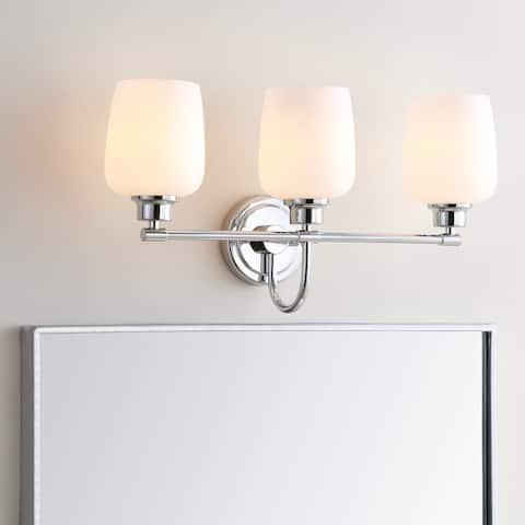 """Safavieh Lighting Lengston 3-light LED Bathroom Sconce - 21""""x7.5""""x12"""""""