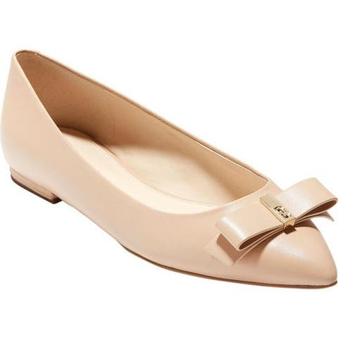 e7a673b5bd82 Cole Haan Women s Elsie Bow Skimmer Ballet Flat Nude Leather
