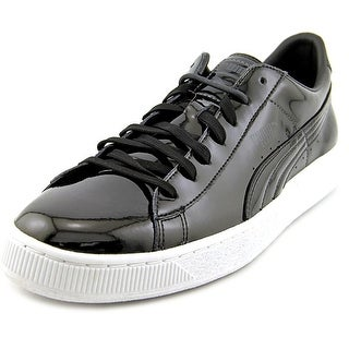 Puma Basket Classic Round Toe Patent Leather Sneakers