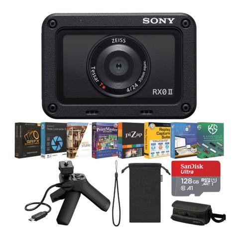 Sony DSCRX0 Mark II Content Creator Bundle with VCTSGR1 Shooting Grip