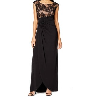 Connected Apparel NEW Black Women's 20W Plus Ruched Empire Waist Dress