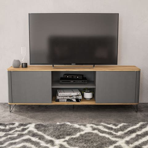 "Boahaus Portland TV Stand, TVs up to 70"", 02 cabinets, 02 shelves - 65 inches in width"
