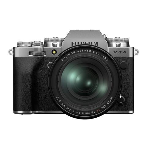 Fujifilm X-T4 Mirrorless Camera with XF 16-80mm f/4 Lens Kit (Silver)
