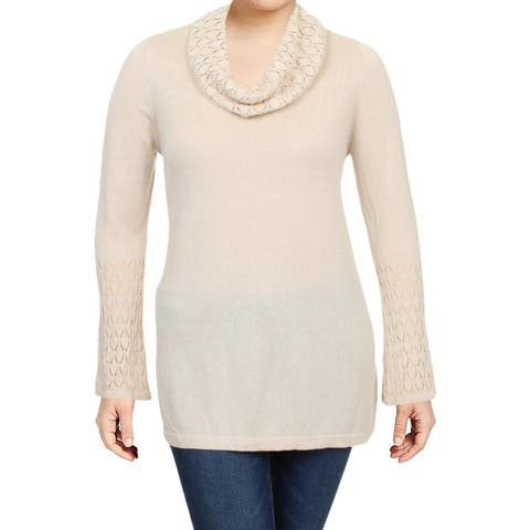 Avec Womens Pullover Top Knit Cowl Neck
