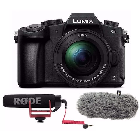 PANASONIC LUMIX G85 4K Mirrorless Camera w/ Rode VMGO Video Mic bundle