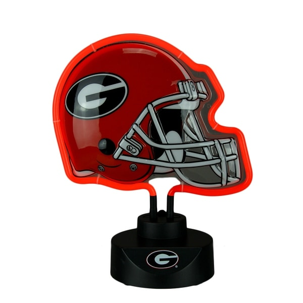 Shop University Of Georgia Bulldogs Football Helmet Neon