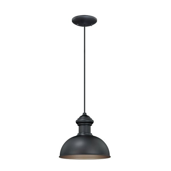 Vaxcel Lighting T0152 Franklin 1-Light Outdoor Pendant - Oil Rubbed bronze - n/a