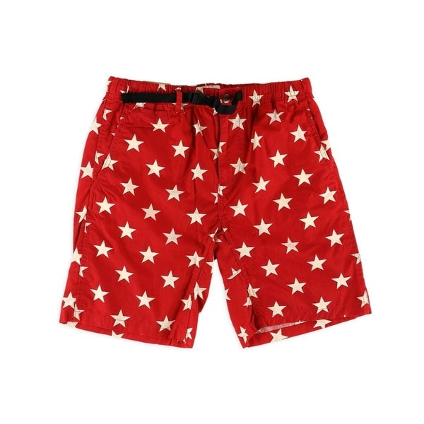 Denim & Supply Ralph Lauren NEW Red Mens Size Large L Star Shorts