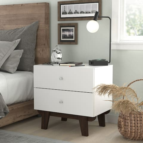 Living Essentials by Hillsdale Kincaid Wood 2 Drawer Nightstand
