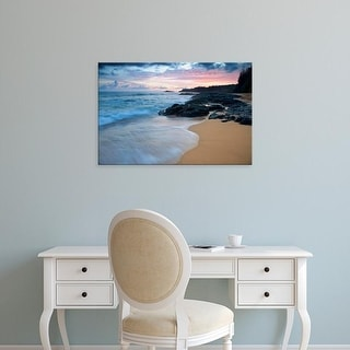 Easy Art Prints Jaynes Gallery's 'Secret Beach At Dawn' Premium Canvas Art